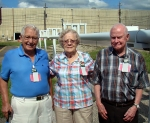 From left: Jim and Helen Courson and Roy Landberg.