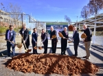 Officials break ground on the Mercury Treatment Facility.