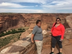 Two interns at the Navajo Nation in Arizona