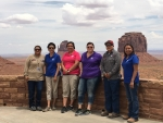 A group of interns and Sandia Indian Energy Program Lead at Monument Valley.