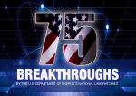 75 breakthroughs cover