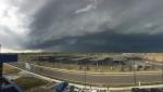 thunderstorm approacing solar carport