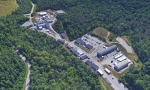 An aerial view of the Transuranic Waste Processing Center in Oak Ridge, where the final drums of legacy transuranic waste stored at Oak Ridge National Laboratory will be processed before shipment to the Waste Isolation Pilot Plant for permanent disposal.