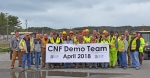 Demolition team of the East Tennessee Technology Park's (ETTP) Central Neutralization Facility