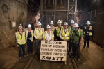 Members of the EM Site-Specific Advisory Board toured EM's Waste Isolation Pilot Plant last week as part of their semiannual meeting. Here they are pictured on the tour with EM officials.