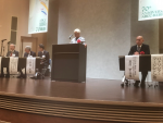 Dr. Patricia Worthington providing DOE greetings at the 70th ABCC-RERF Anniversary