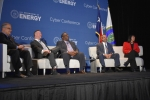 From left, moderator Paul Cunningham, DOE Chief Information Security Officer; Max Everett, DOE CIO; Wayne Jones, NNSA CIO; Vasilios Kountouris, DOE Director of Information Technology and Services; and Carol Jones, Sandia National Laboratories CIO.