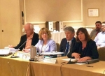 EM Assistant Secretary Anne White, far right, speaks during the combined meeting of the Environmental Management Advisory Board and the chairs and vice-chairs of the EM Site-Specific Advisory Board.