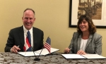 EM Assistant Secretary Anne White and Richard Sexton, president and CEO of Atomic Energy of Canada Ltd. (AECL), signed a five-year extension to a Statement of Intent (SOI) that allows EM and Canada's nuclear cleanup program to exchange information.
