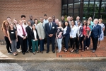 20 students came to Brookhaven Lab for a new scientific computing skills-building program funded by the National Science Foundation (NSF) and managed by LeRoy Jones (center), program director of NSF's Division of Human Resource Development.