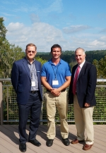 From left, Savannah River Remediation (SRR) Chief Operating Officer and Deputy Project Manager Mark Schmitz, SRR Electrical and Instrumentation Mechanic Tyler Stuart, and DOE Associate Under Secretary for Environment, Health, Safety and Security Matthew M