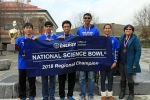 Dougherty Valley High School emerged as regional champions after going undefeated during the competition. From left to right: Kenneth Moon, Amogh Gomathinyagam, Ayush Agarwal, Prem Chintalapudi, Risha Chukaraborty, and Coach Katherine Huang.