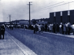 Blue-filtered image of Y-12 open house from 1967