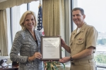 NNSA Administrator Lisa E. Gordon-Hargerty and U.S. Navy Vice Adm. David Kriete
