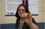 Donna Riggs works at Y-12 National Security Complex for the the NNSA Production Office. She stamped the first production unit of the B61-12's canned subassembly to indicate it was certified.