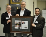 "Oak Ridge Office of Environmental Management Manager Jay Mullis, left, and UCOR Environment, Safety and Health and Quality Assurance Manager Clint Wolfley, right, recognize UCOR President and CEO Ken Rueter for being named a 2019 CEO Who ""Gets It"" by the"