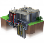 Graphic of a fast test PRISM reactor