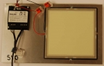 Photo of a test configuration for OLED panels.