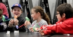 Third-grade students have fun with engineering projects during Hanford Engineers Week.