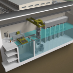 Mock up of a small modular reactor refueling
