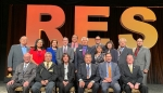 EM Assistant Secretary Anne White, front row, center, joins other DOE officials and members of the National Center for American Indian Enterprise Development Board of Directors at the Reservation Economic Summit 2019. Chris James, the center's president a