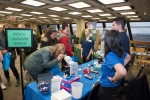 High school students meet with STEM professionals at Fermilab's annual STEM Career Expo.