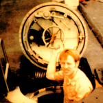 Photo of a man in a nuclear submarine during the Vietnam War