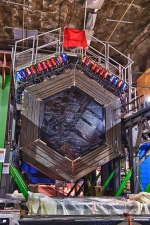 Neutrinos entering the MINERvA detector interact with the detector's atoms, generating new particles before fleeing the scene. The MINERvA experiment used a new investigative technique to better trace those fleeing neutrinos that kicked everything off.