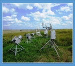 The scientists used radiometers, shown here, to isolate the signal of methane's greenhouse effect. Radiometers are among the many instruments at ARM's Southern Great Plains observatory the team used as part of this study.