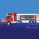 a photo of a truck with a microreactor unit on the back.