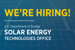 The Solar Energy Technologies Office is Hiring