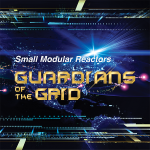photo of space with text that reads small modular reactors the guardians of the grid