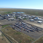 An aerial photo of the Materials and Fuels Complex at Idaho National Laboratory