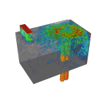 Computer simulation of nuclear component