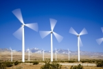 Wind Turbine's In Motion (spinning).