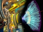The PHENIX detector at Brookhaven National Laboratory's Relativistic Heavy Ion Collider (RHIC) records many different particles emerging from RHIC collisions, including photons, electrons, muons, and quark-containing particles called hadrons.