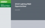 Cover of the 2019 Lighting R&D Opportunities report.