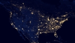 electric grid at night