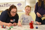 "Several employees with Bechtel National, Inc., the EM Hanford Site Waste Treatment and Immobilization Plant contractor, volunteered for the ""Introduce a Girl to Engineering"" event at the Richland Public Library in Washington"