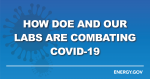 How DOE and National Labs are combatting coronavirus twitter banner