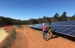 Construction on a solar array.