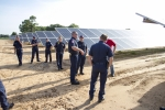 First responders receive safety training at the 2MW CoServ Solar Station in Krugerville, Texas.