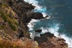 Ocean crashing against rocks
