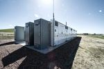 Utility scale lithium ion Battery Energy Storage System (BESS) installation at Ft. Carson is paired with photovoltaic solar power