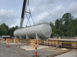 Last week, crews moved a massive 50,000-tank into position to support efforts at the Sludge Processing Mock Test Facility under construction at Oak Ridge.