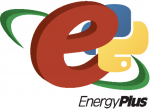 EnergyPlus with Python EMS mock logo (disclaimer: not an actual logo!)
