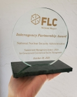 NNSA received the FLC Midwest Region Interagency Partnership Award in October 2020 for its BUILDER Sustainment Management System for Government/Commercial Facility Management.