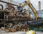 EM crews cleaned and demolished Column Exchange (COLEX) equipment on the west end of the Alpha-4 Building at the Y-12 National Security Complex. So far, the effort has retrieved more than 10,000 pounds of mercury.