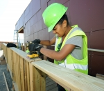 Image of a student working at Solar Decathlon