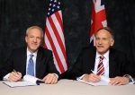 DOE Senior Advisor for Environmental Management David Huizenga (left) and Mark Lesinski, U.K.'s Nuclear Decommissioning Authority (NDA) Executive Director for Delivery, renewed the Statement of Intent between DOE and NDA in a signing ceremony this week.